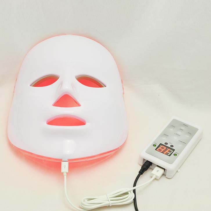 Free Shipping 3 Colors Light Photon LED Facial Mask Skin Rejuvenation Beauty Therapy Photo Therapy led photon therapy 7 colors light treatment facial beauty skin care rejuvenation light therapy acne treatment mask