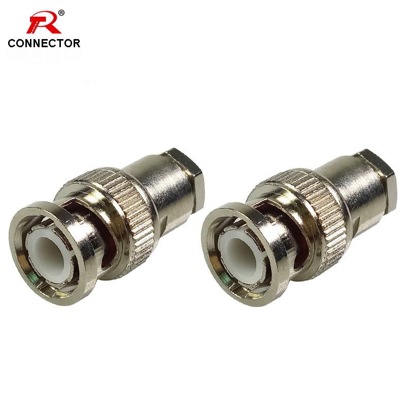 1PC BNC Clamp Connectors BNC Male Clamp Plug for RG58 RG59 RG6 Coaxial Cable 1PC BNC Clamp Connectors BNC Male Clamp Plug for RG58 RG59 RG6 Coaxial Cable