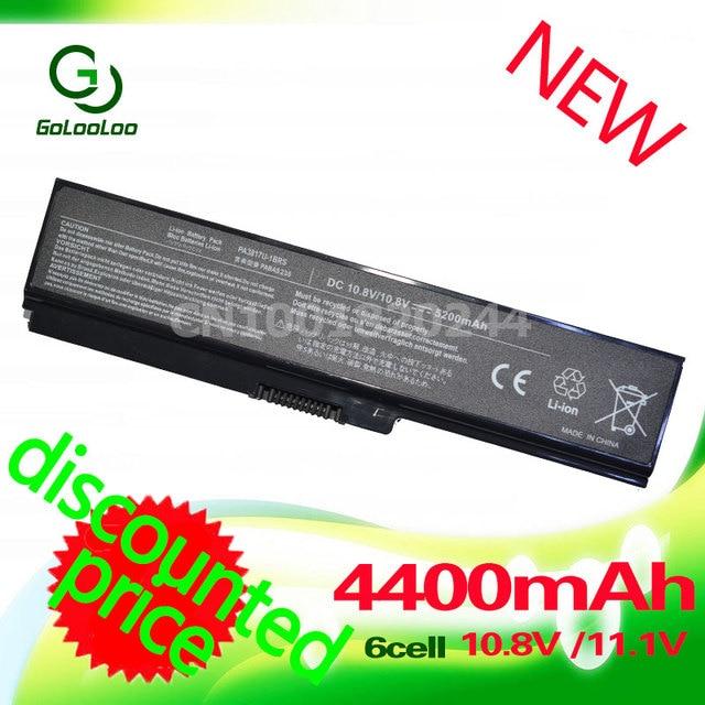 Golooloo 4400mAH Laptop Battery for toshiba PA3817U-1BRS PA3817 PA3818U-1BRS PA3817U Satellite L745 L740 L655 L750 L750D L755