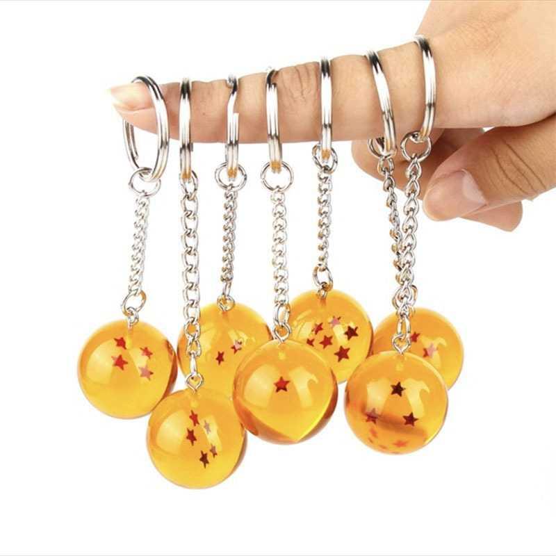 لعبة دراغون بول المفاتيح جوكو اليابان الكرتون أنيمي كيرينغ أرقام حلية نجوم كريستال الكرة كيرينغ سلسلة جمع هدية حلقة رئيسية
