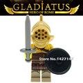 20 шт. Gladiatus Воины Heros рима Highland Воины строительные блоки обучения и образования кирпичи Игрушки для детей