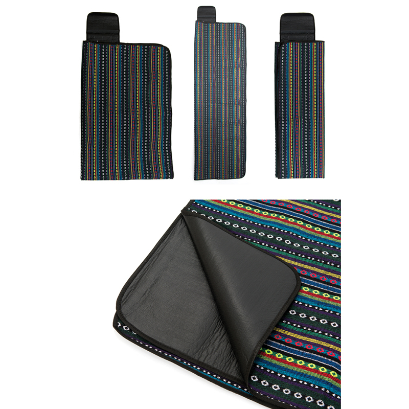 Image 2 - VILEAD 2 Size Indian Beach Picnic Camping Mat  Folding Waterproof Portable Hike Outdoor Blanket Pic Nic Tarp Foldable Mattress-in Camping Mat from Sports & Entertainment