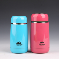 Stainless Steel Vacuum Cup Cute School Water Bottle Blue Pink Office Coffee Milk Tea Mug Keeping