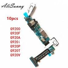 AliSunny 10pcs טעינת Flex כבל לסמסונג גלקסי S6 G920F G920A G920T G920V G920i G9200 USB מזח נמל מחבר חלקי