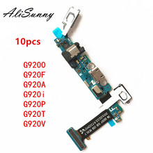 AliSunny 10pcs Opladen Flex Kabel voor SamSung Galaxy S6 G920F G920A G920T G920V G920i G9200 Usb poort Dock Connector onderdelen