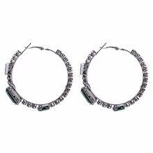 Qiaose New Brand Rhinestone Hoop Earrings for Women Fashion Jewelry Boho  Maxi Collection Earrings Accessories( 25c66a83e578