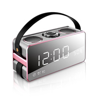 EAAGD LED Alarm Clock Time Display With Wireless Bluetooth Speaker 19W Stereo FM Micro TF Card