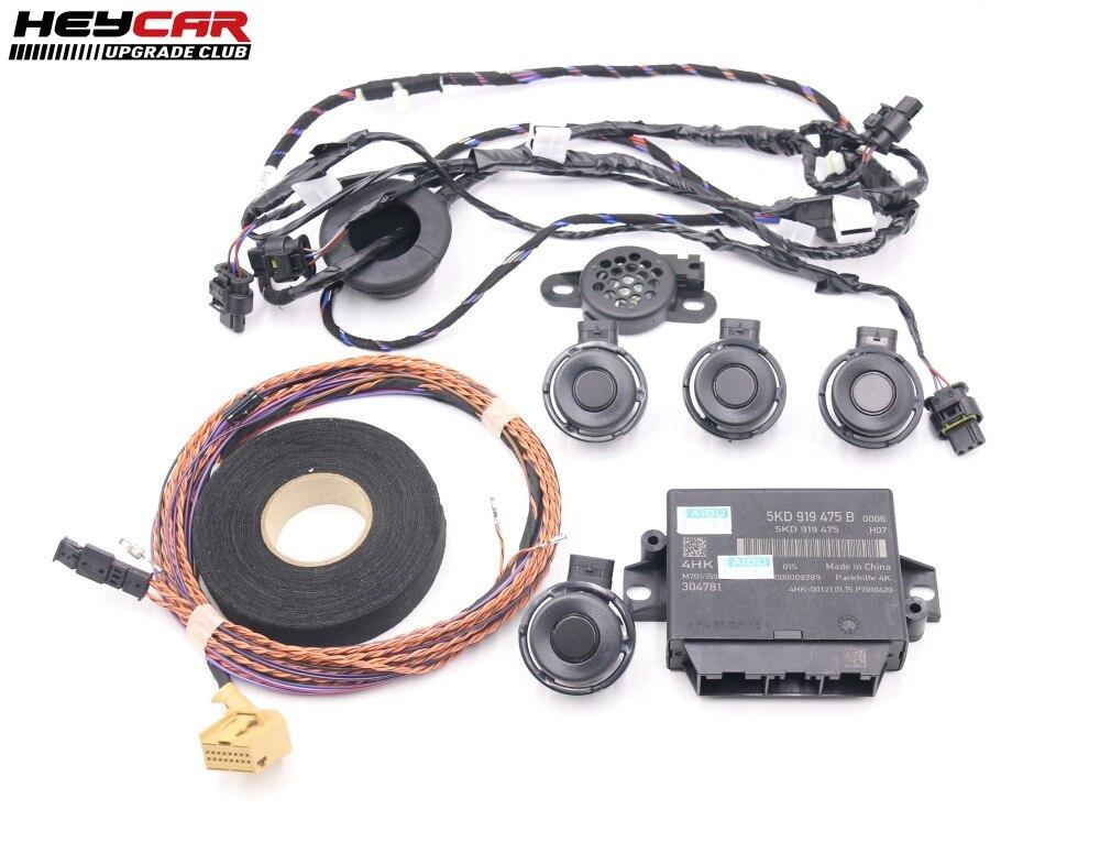 FOR VW Tiguan 5N Rear OPS 4K Park Pilot 4 Parking Sensors Kit 5KD 919 475