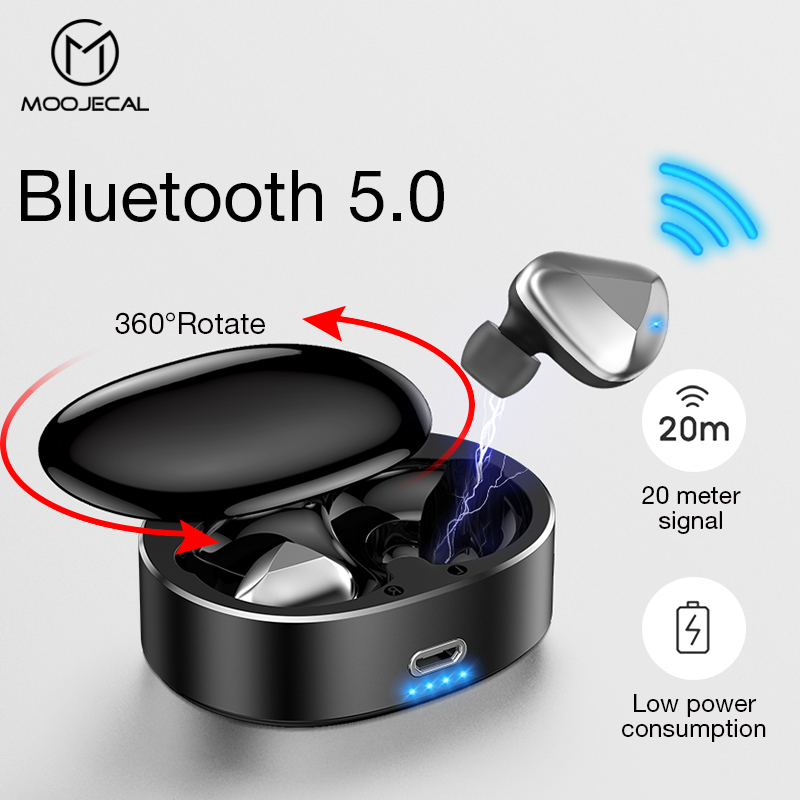 MOOJECAL T50 TWS Wireless Earphone 3D stereo bluetooth Headphone Sports Earbuds Gaming Headset for Mobile Phone PK i30 i20MOOJECAL T50 TWS Wireless Earphone 3D stereo bluetooth Headphone Sports Earbuds Gaming Headset for Mobile Phone PK i30 i20