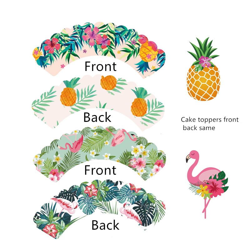 Ananas Cupcake Toppers-Summer Party Topper-paillettes or-Lot de 10
