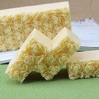 Nicole Silikonseifenform Geprägte Rose Blume Dekoration Handgemachte Loaf Seifenherstellung Form