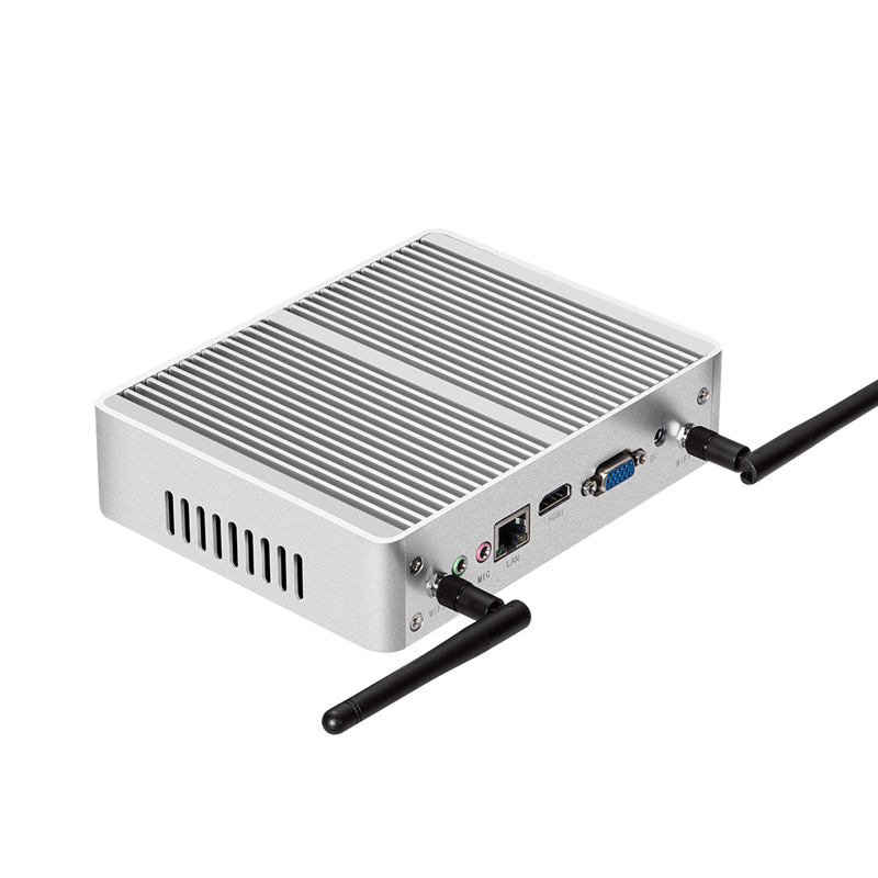 Fanless Mini PC for Windows with Dual Output Display and WiFi 3