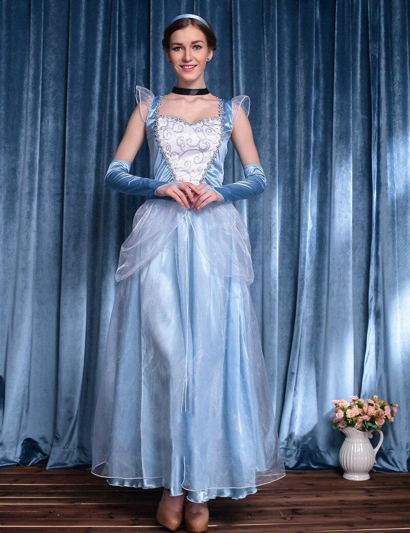 Movie Sandy Girl Cinderella Princess Adult Cosplay Costume Deluxe ...
