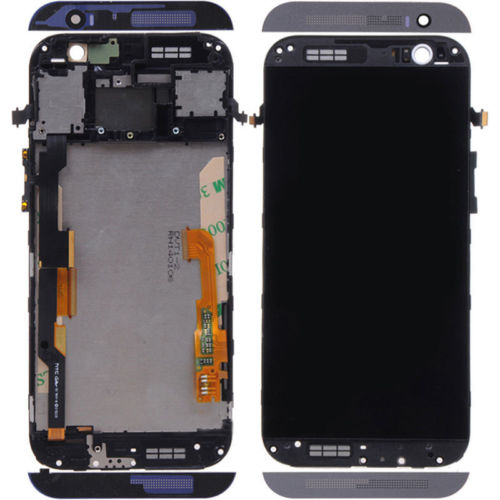 ФОТО High quality New LCD Touch Screen Digitizer Assembly with Frame For HTC One M8 free shipping
