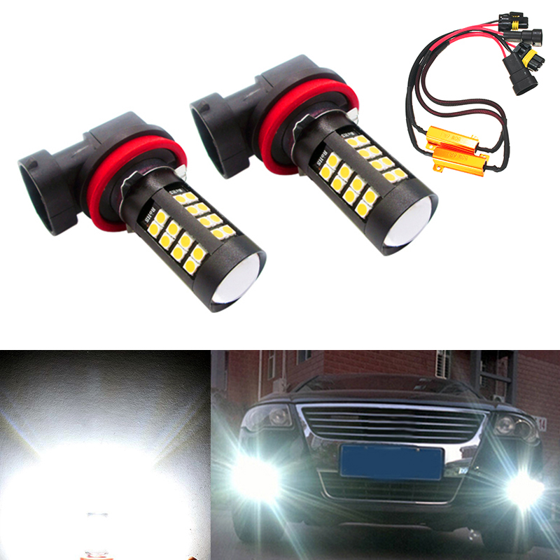 2x 9006 HB4 Car Canbus Bulbs Reflector Mirror Design Fog Lights No Error For VW Golf 6 MK6 Scirocco T5 Transporter