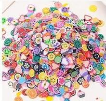 Charms for Slime DIY Fruit Soft Clay Crystal Mud Baking Fimo Polymer Light Soil Hand Playdough Toys