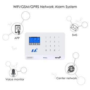 Image 5 - Marlboze Kablosuz Ev Güvenlik GSM WIFI GPRS Alarm Sistemi IOS Android APP Uzaktan Kumanda RFID Kart PIR Sensörü Kapı Sensörü kiti