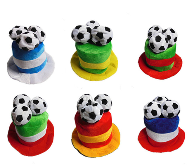 Football World Cup Football Match Carnival Cap Bar Hat  Halloween Party Hat Cosplay Costume  B-2917