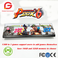 2 Player 16GB/32GB Pandora Box 6 1300 In 1 Arcade Game Console Can Add Game HDMI VGA Usb Joystick For Pc Video Fighting Game Ps3