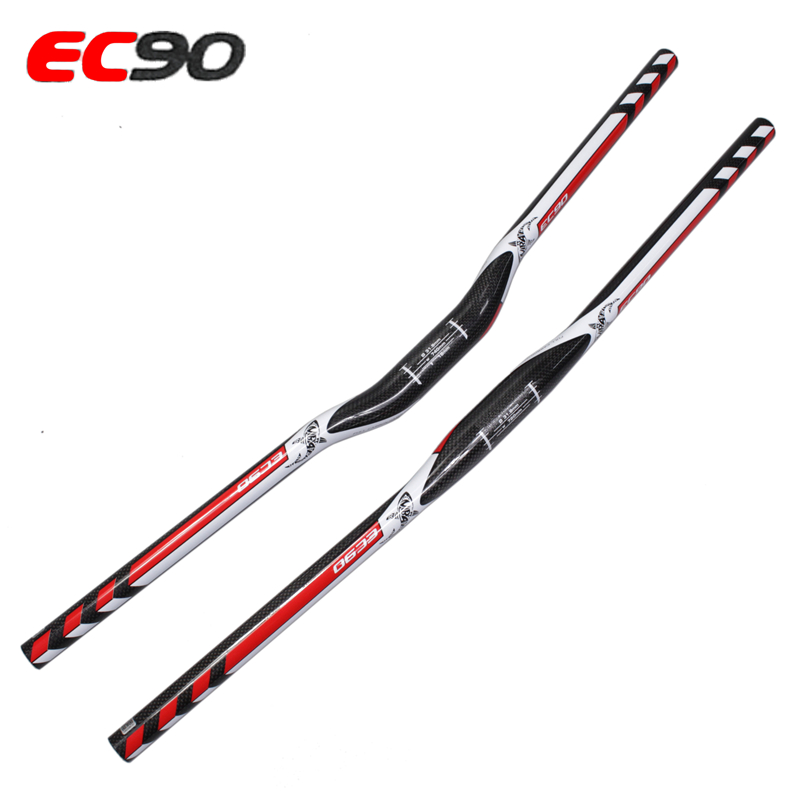 Ec90 carbon handlebar bicycle put ultra-light full carbon fiber yanerwo 3k 31.8-740mm MTB  HANDLEBAR