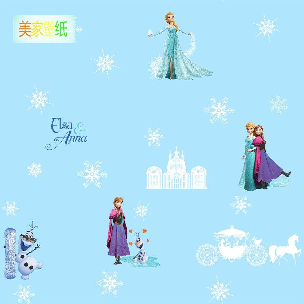 Chambre d'enfant lumineux flocon de neige papier peint glace et neige petite fille fille chambre dessin animé papier peint non-tissé conte de fées monde