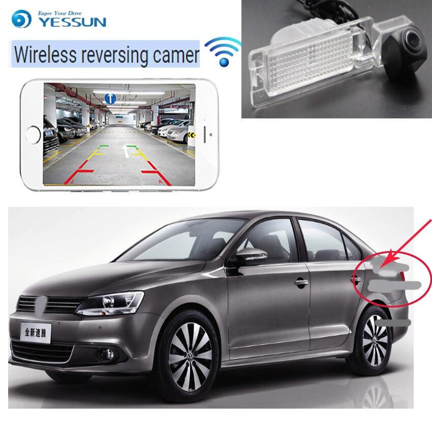 NOUVEAU! Caméra de recul de voiture sans fil pour Volkswagen Sagitar 2013 ~ 2015 caméra de recul de voiture WIFI hd CCD