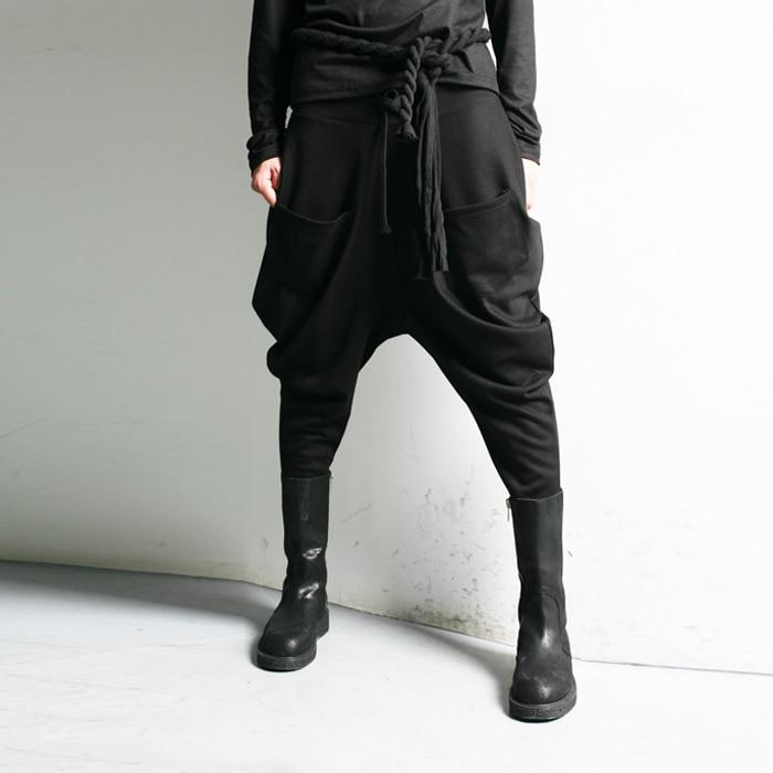 27-42! большие размеры повседневные Модные шаровары загрузки вырезать джинсы Новинка middlelowlevel здоровья Штаны Low-Rise Штаны