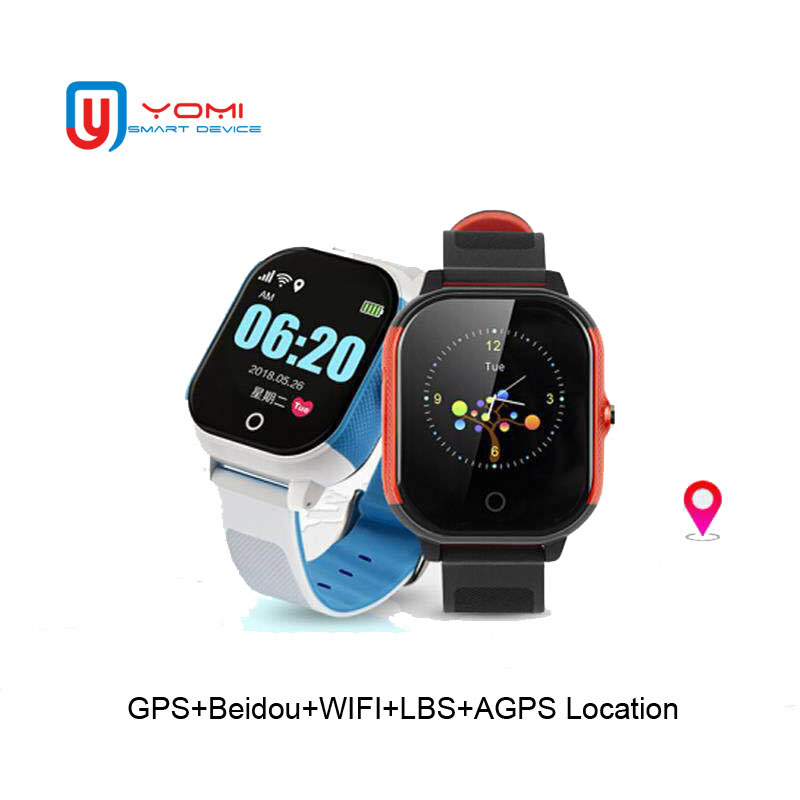 Nouvelle montre intelligente étanche pour enfant montre Android GPS WIFI Tracker télécommande Anti-perte Finder horloge intelligente pour garçons et filles