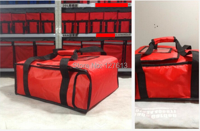 """High quality Lower price (4pcs/lot)  Pizza delivery bag for two or three 13"""" pizza boxes Pizza thermal insulation bag"""