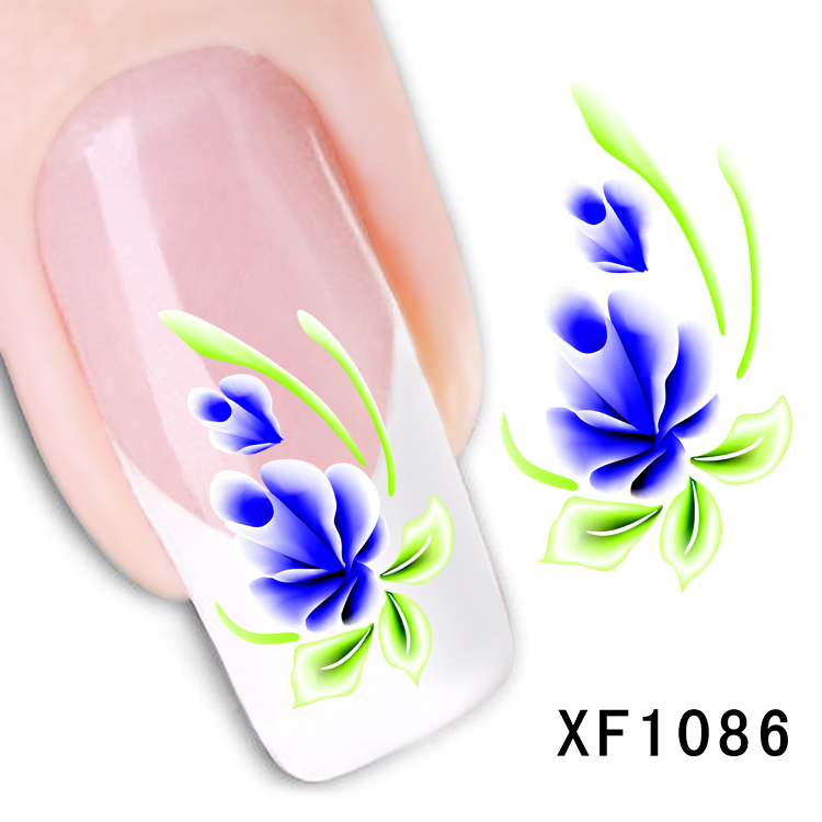 XF1086-Fashion New style Water Transfer Stickers 1 Sheets 3D Design DIY Nail Art Decorations Nail Sticker Nail Decal Nail Tools xf1086 fashion new style water transfer stickers 1 sheets 3d design diy nail art decorations nail sticker nail decal nail tools