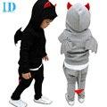 IDGIRL Crianças Meninos conjunto de Roupas de Bebê Menino Batman Esportes Ternos 2-7 Anos Crianças 2 pcs Define Primavera Outono roupas de Treino JYM088