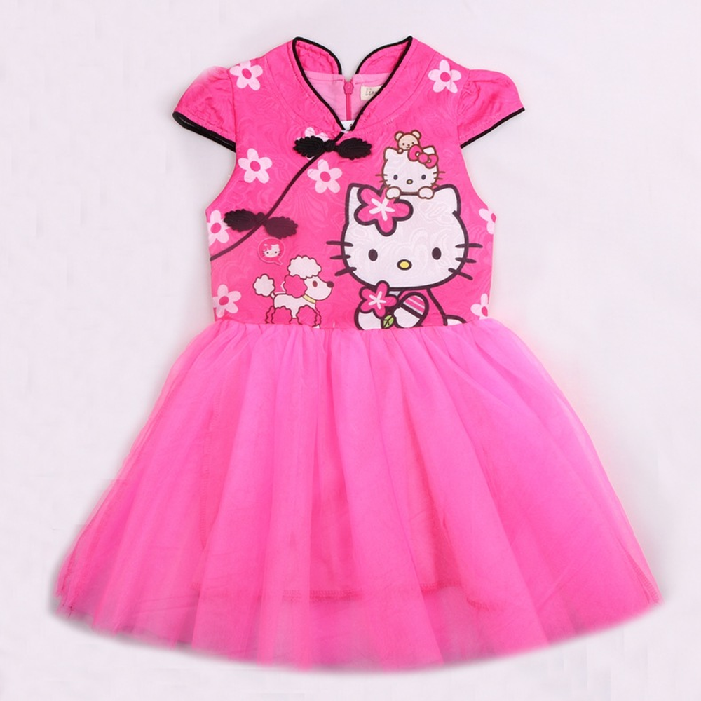6157082ee New Prom Dresses 2018 Summer Hello Kitty Baby Girls Dress Children Pattern  Elsa Dresses Queen Princess Party Wedding Kids Dress-in Dresses from Mother  ...