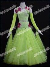 Customized Lady Ballroom Dancing Dress Modern Dance Competition Costume Waltz Tango Foxtrot Quickstep Suit Promotion B-0535
