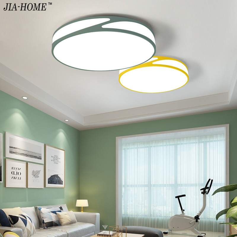 Lights & Lighting Flush Mount Ceiling Light Ceiling Lamps With Remote Control For Living Room Sitting Room Round Modern Lighting Lamparas Dero Jade White Ceiling Lights