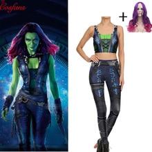 2019 Avengers:Infinity War Gamora cosplay costume Leggings w