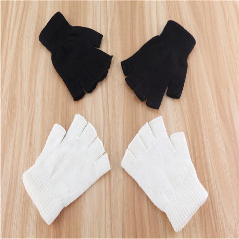 2019 New Black Gloves Gloves Fingerless Men's Fingerless Gloves Women's Mitts Luva Inverno Guantes De Invierno Guantes Sin Dedos