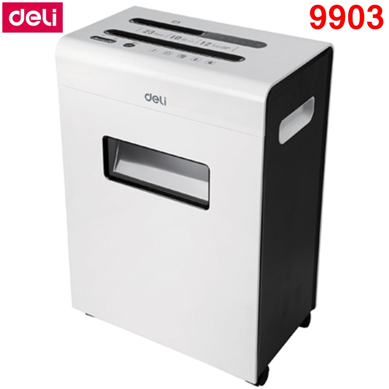 [ReadStar] Deli 9903 déchiqueteuse de papier électrique bureau 23L volume 220-230VAC/50Hz 12 pièces arrêt automatique déchiqueteuse de papier type de tiroir