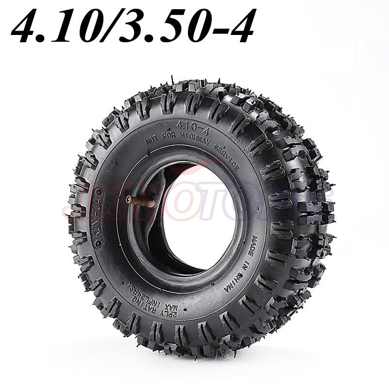 4.10/3.50-4 410/350-4 ATV Quad Go Kart 47cc 49cc Chunky 4.10-4 Tire inner tube Fit All Models 3.50-4 4