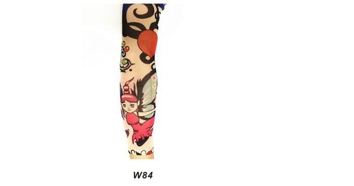 Lot 6 Pcs Fashion Style Temporary Fake Slip On Tattoo Arm Sleeves Kit Colletion Halloween Make Up Body Art 11
