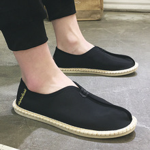 New Male Nationa Style Breathable Casual Men Canvas Hemp Fisherman Shoes Men Espadrille Flats Driving Shoes Chaussure Homme цена 2017