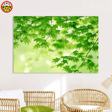 painting by numbers art paint by number Big picture king DIY green plant branch leaves own painting living room room decorativ(China)