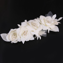 Elegant Bride Hair Barrettes Flower Simulated Pearl Wedding Charming Hair Accessories Bride Bridal Floral Hair Clips Head Pieces