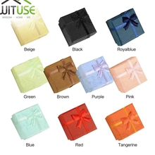 Jewelry-Ring Case Watch Gift-Box Carton-Present Small Cheap 10-Colors Necklace 4--4--3cm