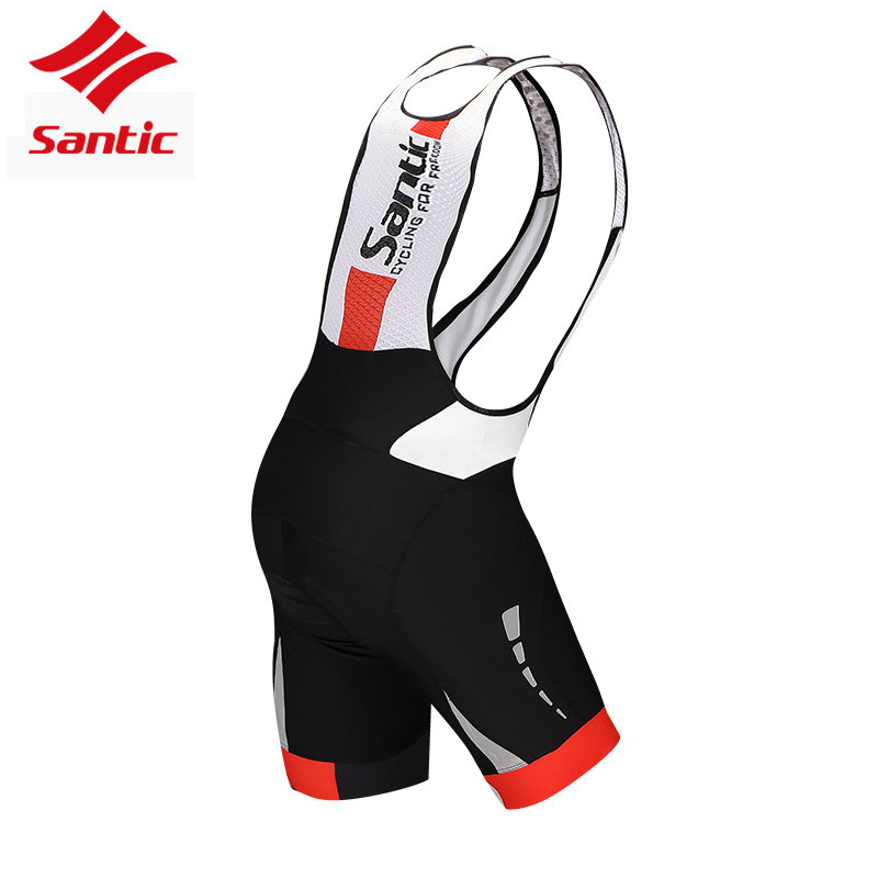 Santic Cycling Bib Shorts Men Pro Gel Pads Mountain Road Racing Bike Shorts Breathable Mesh Downhill Bicycle Bike Team Tights scoyco motorcycle riding knee protector extreme sports knee pads bycle cycling bike racing tactal skate protective ear
