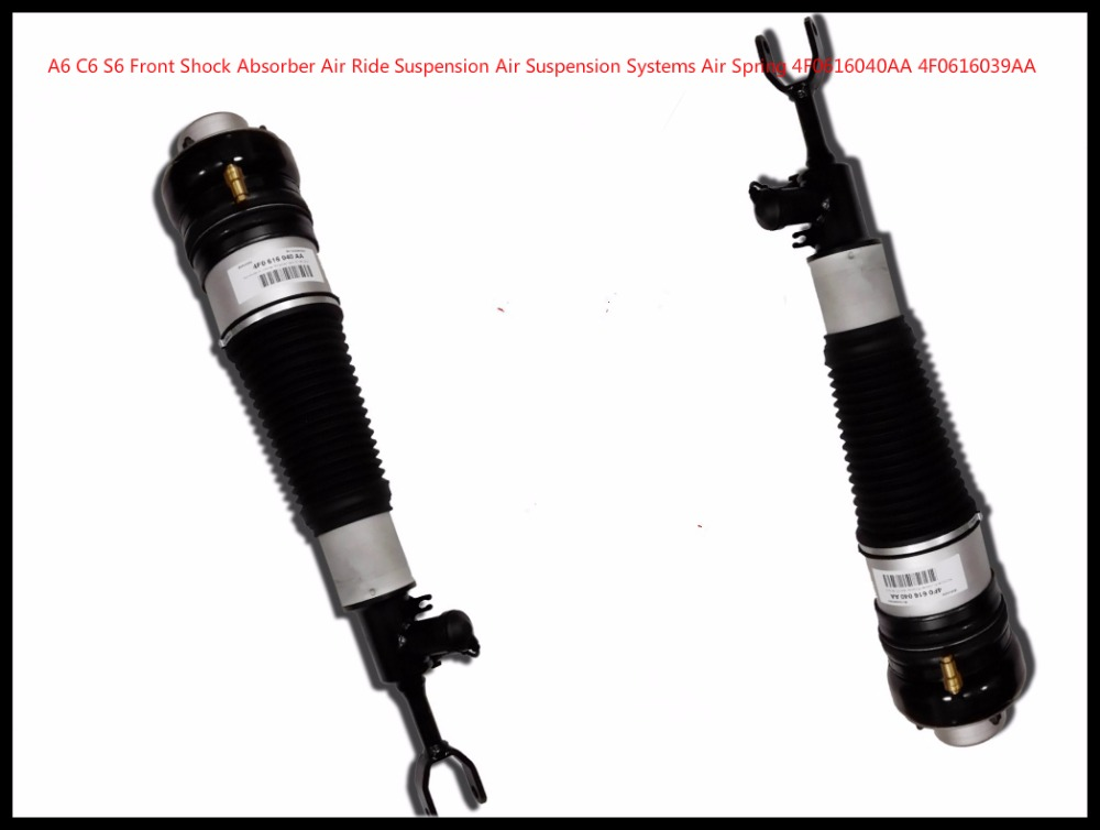 FREE SHIPPING pair rebuild for Audi A6 C6 Air Suspension Strut shock right+left Front Side rebuild 4F0616040 4F0616039