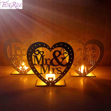 Heart Wooden MR&MRS Heart-Shape Romantic Pendant Plate With LED Light Ornament Wedding Table Decoration Party Suppliess