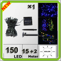 Novelty Solar 150LED Christmas String Light Led Wedding Light Colorful Navidad Lampara LED 15 2 Meters