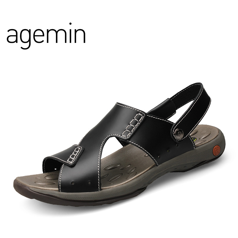 Agemin 2018 Classic Mannen Sandalen Comfortabele Mannen Zomer - Men's Shoes - Photo 1