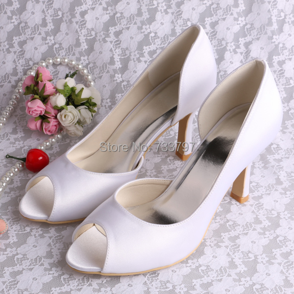 (20 Colors) Peep Toe Payless Shoes Women White Wedding Sexy Women Pumps  Drop Shipping 7938d2b127fc
