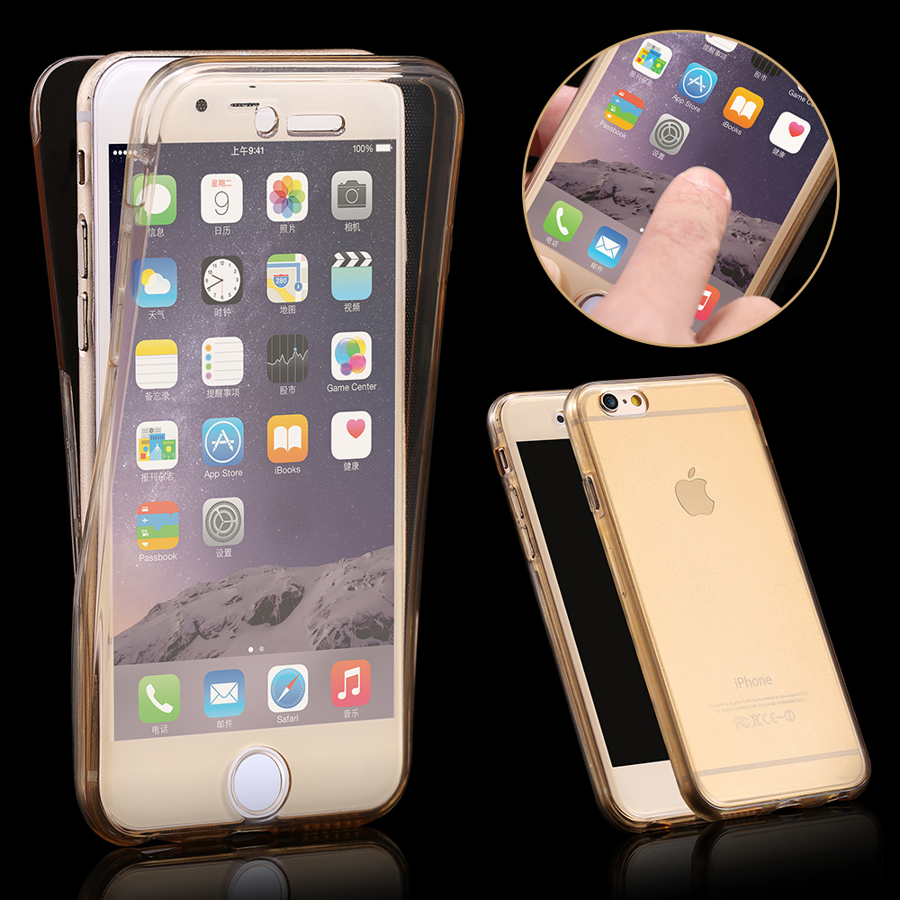 360 Degree Case For iPhone SE 5S Front Back Combo Protective Soft TPU Clear  Transparent Smart Touch For apple iphone 7 5S coque 253c0d371d1c2